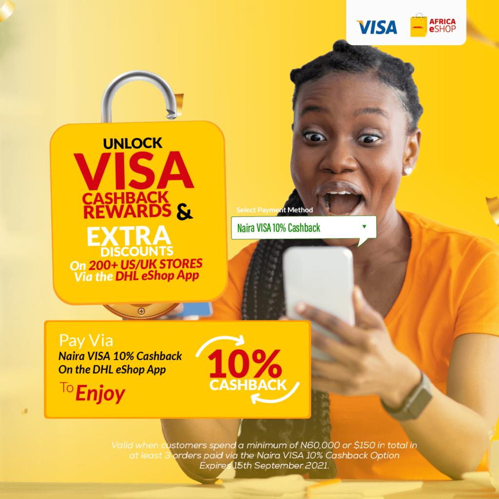 10% cash back + a HUGE surprise from DHL Africa eShop